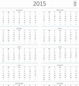 image gallery on one page calendar 2015 With single page calendar template