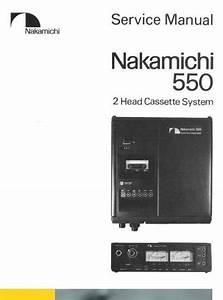 Nakamichi 550 Original Service Manual