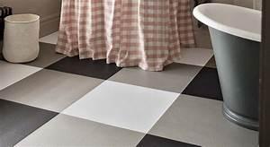 Black and white rubber floor tiles tile design ideas for Fitting lino in bathroom