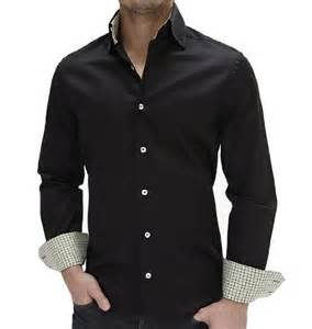 Black Button Down Shirt with Jeans