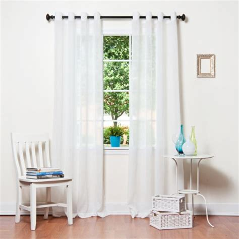best home fashion crushed voile sheer curtains antique
