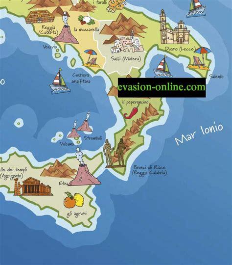 Carte Sud De Et Italie by Carte Italie Touristique 187 Vacances Arts Guides Voyages