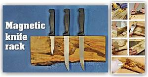DIY Magnetic Knife Holder • WoodArchivist