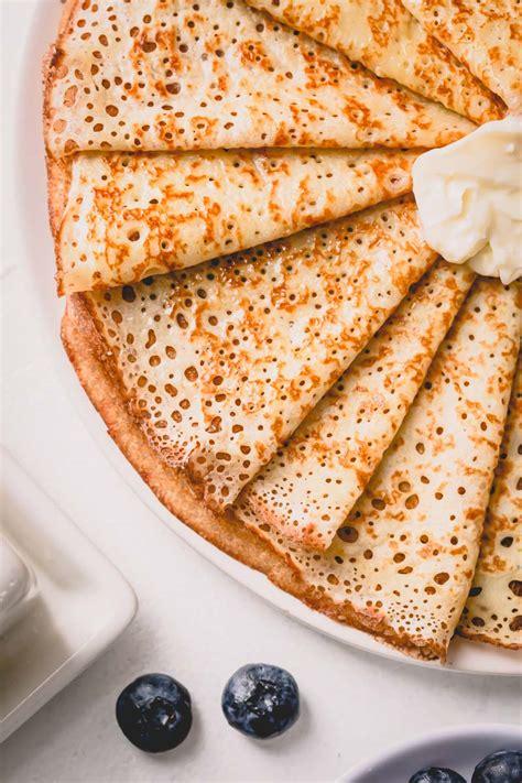 Basic Crepe Recipe ~Sweet & Savory