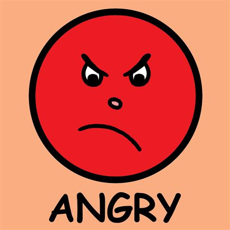 angry face clipart clipart