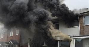 House badly damaged by fire in Salford - Manchester ...