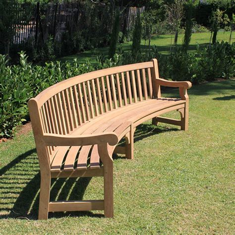 curved garden bench plans image mag