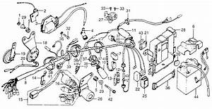 1978 Honda Xl175 Coil  Ignition  Wire  Harness  Frame