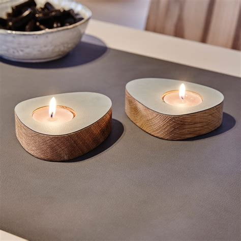 curve tealight holder pair by lind dna urban avenue