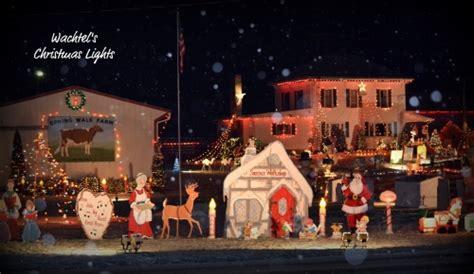 wachtel s christmas light display drive thru display in