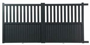 Portail Alu 4m : portail lectrique coulissant alu 4 m tres moteur ~ Voncanada.com Idées de Décoration