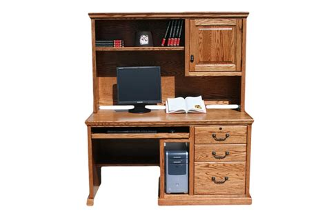 wood desk with hutch store your all office items through computer desk with