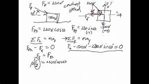 Free Body Diagram Example Problem 4  Pushing An Object