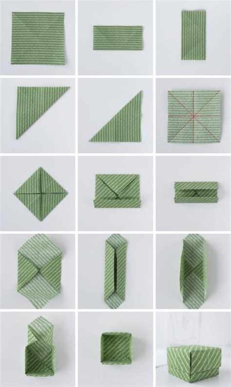 einfache origami figuren diy origami aus stoffresten anleitung f 252 r einfache schachteln