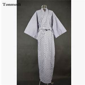 Cool Traditional Japanese Kimono Women Long Robe Yukata ...