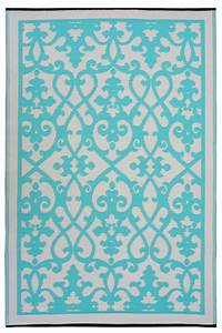 Outdoor Teppich : garten im quadrat outdoor teppich venedig ranken t rkis hellgr n cremewei ~ Buech-reservation.com Haus und Dekorationen