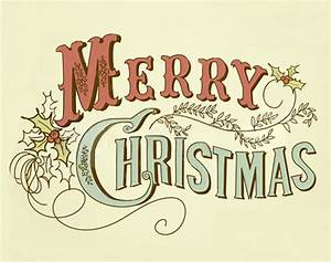 Vintage Merry Christmas | The Doodle Place