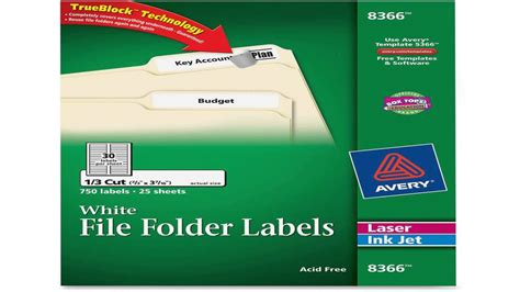 In the print section, select single label to print one label. Avery File Folder Labels for Laser and Inkjet Printers 0.6 ...