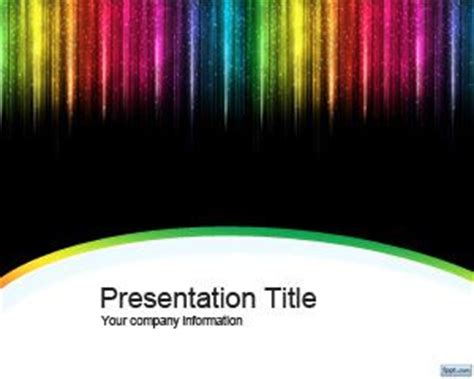 color strip powerpoint template