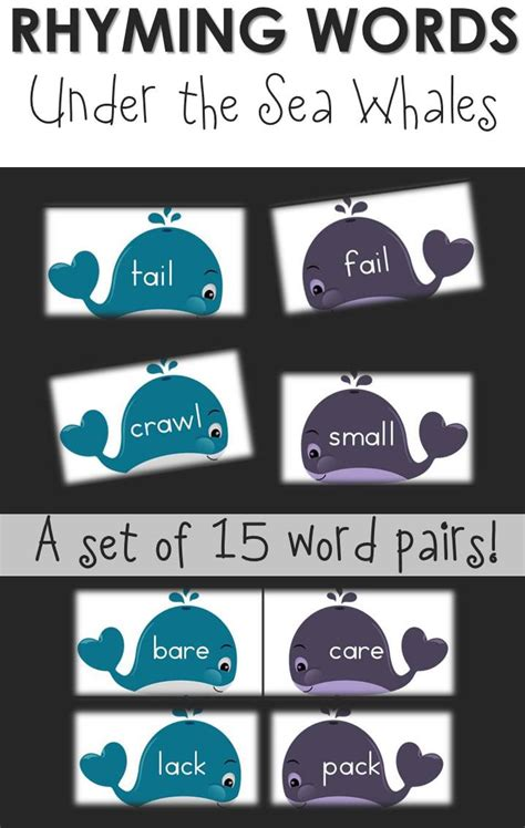whales rhyming puzzle printable  relaxed homeschool