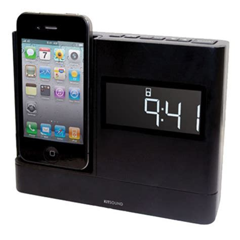 kitsound xdock iphone  ipod clock radio dock