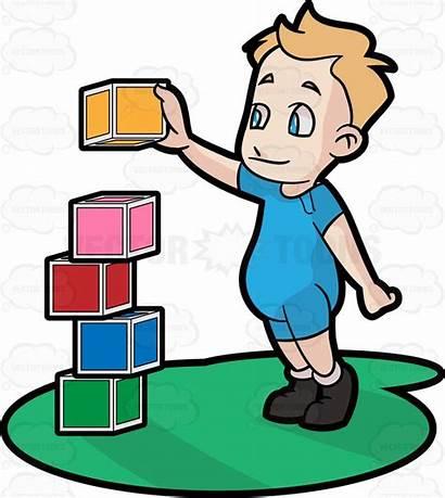 Cartoon Clipart Build Blocks Building Block Clip