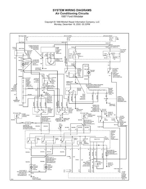 Ford Wiring Diagrams Windstar System