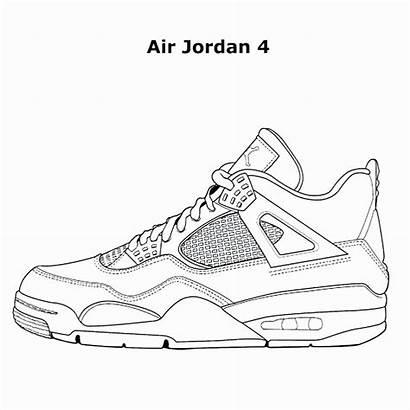Nike Jordan Coloring Shoe Air Pages Drawing