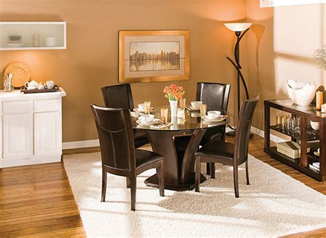 raymour and flanigan kitchen dinette sets venice 5 pc 54 quot glass dining set espresso raymour