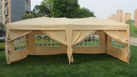 mcombo  ft easy pop  wedding canopy party tent folding gazebo canopy  sides carry bag