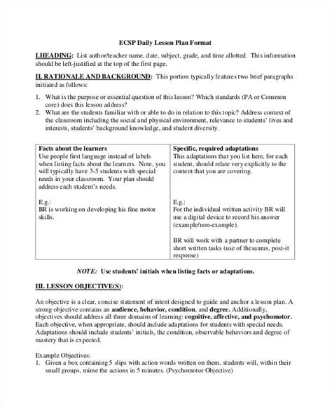 Social Skills Lesson Plan Template by 49 Exles Of Lesson Plans