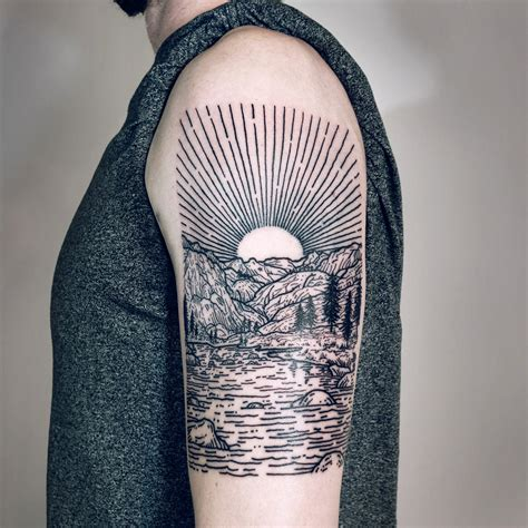 imaginative  sleeve landscape tattoos  lisa orth
