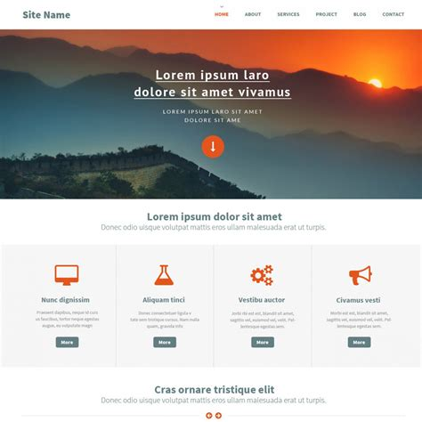 Webstite Templates Top Ten Newest Free Website Template