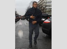 Kanye West Drives a MatteBlack Porsche to Paris Fashion