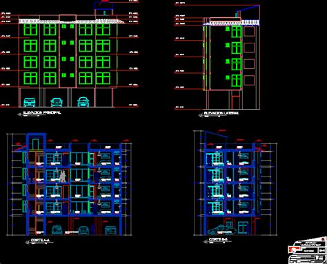 hotel  storeys  underground parking dwg section