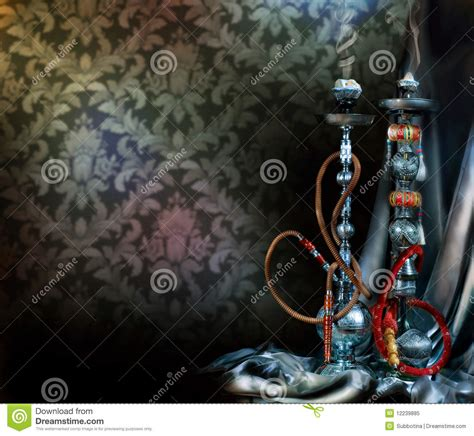 hookah  shisha stock image image  isolated inhale
