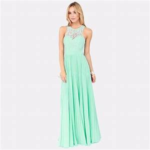 new 2016 spring mint green lace long bridesmaid dresses With lace wedding dresses under 100