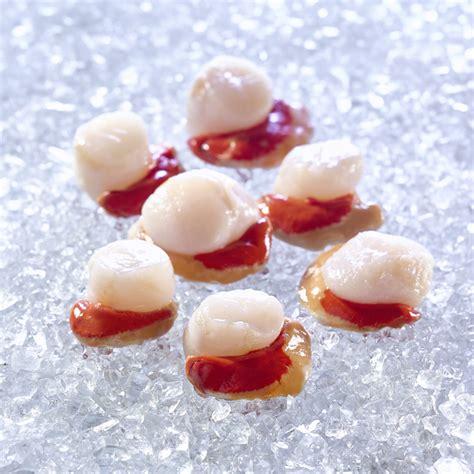 cuisiner des noix de st jacques avec corail noix de st jacques avec corail gel pêche