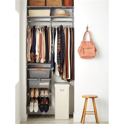Wardrobe Closet For Small Spaces by Platinum Elfa Small Space Closet The Container Store