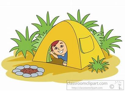 Clip Clipart Tent Inside Camping Clipartix Outside