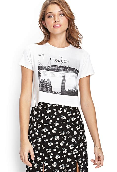 london graphic tee  white lyst