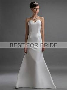Minimum embellishments no lace no frills wedding dresses for No lace wedding dress