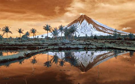 mayon volcano philippines wallpaper  desktop