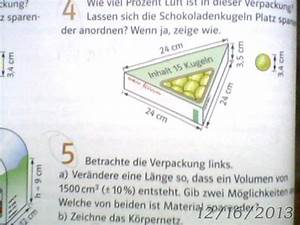 Luftvolumen Berechnen : volumen wie viel prozent luft ist in dieser verpackung der schokoladenkugeln mathelounge ~ Themetempest.com Abrechnung