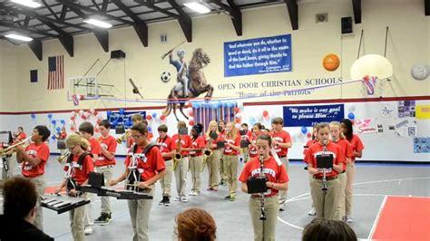 open door christian school open door christian school patriot middle school marching