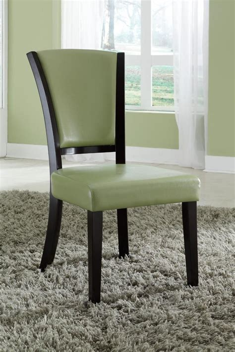 Green Leather Dining Chair  Stealasofa Furniture Outlet