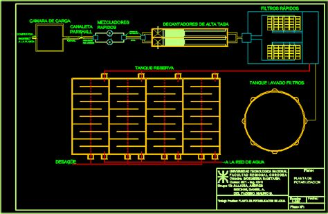 water treatment plant dwg block  autocad designs cad
