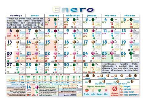 almanaque agricola lunar calendario