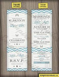 custom butterfly wedding invitations canada empire invites With vertical tri fold wedding invitations