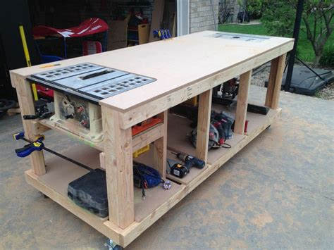 Mobile Woodworking Bench Plans